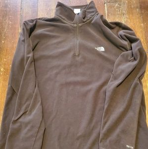 The North Face brown fleece pullover xl